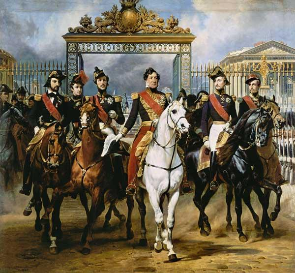 Louis Philippe and his sons to horse at this leave
