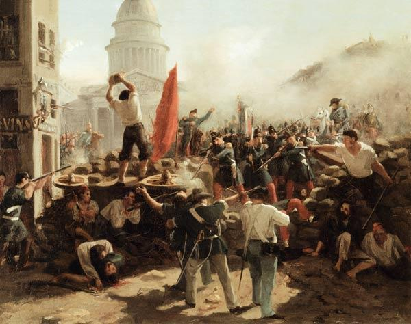 On the barricades on Rou Soufflot / 1848