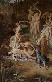L�vy, Emile : The death of Orpheus.