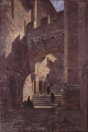 Mont Saint-Michel, Fortified gate in the Abbey