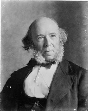 Herbert Spencer (1820-1903) (b/w photo)