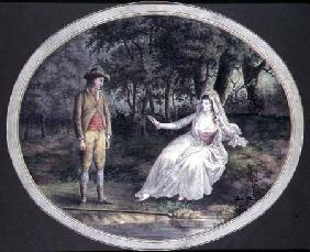 Lovers in a Woodland Landscape