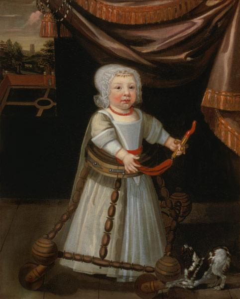 Portrait of a Boy with a Coral Rattle