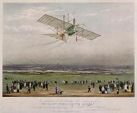 The Flying Machine, the ''Ariel'', from designs prepared by W.S. Henson in 1842, published by Ackerm