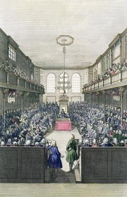 A View of the House of Commons, engraved by B. Cole (fl.1748-75) (engraving)