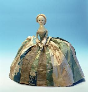 Letitia Penn doll (wood & textile)