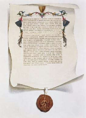 Facsimile edition of the Magna Carta, first published in 1225, 1816 (vellum)