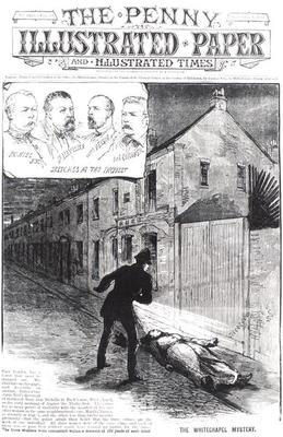 The Whitechapel Mystery, from 'The Penny Illustrated Paper', 8th September 1888 (engraving) (b&w pho