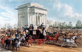 Hyde Park Corner, after James Pollard, published Ackermann
