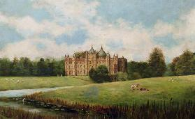 Tong Castle across the Meadows (demolished)