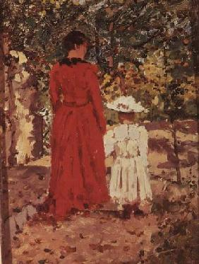 Woman and Child in the Garden