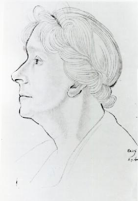 Mary Ethel Gill, 1940 (pencil & sanguine on paper)