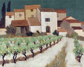 Vineyard, Provence (oil on canvas)