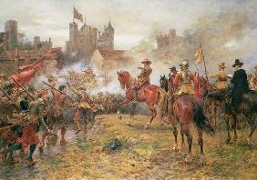 Cromwell at the Storming of Basing House, 1900 (oil on canvas)