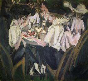 In the Cafégarten 1914