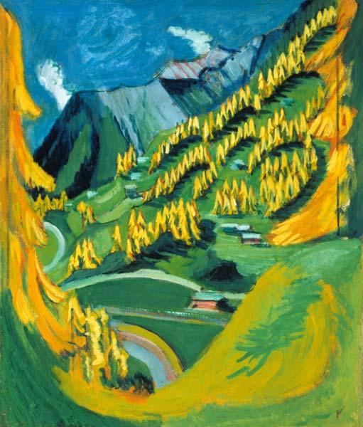 Mountain slope with yellow trees 1924/1926