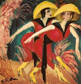 Two red dancers