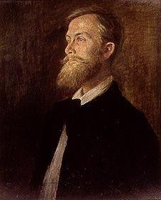 Portrait of the poet Emil Strauß.