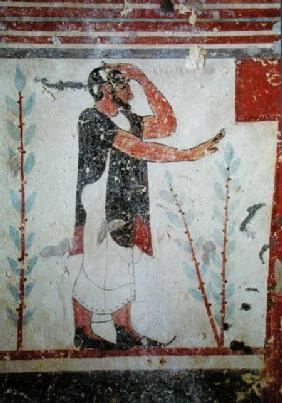 Priest making a ritual gesture, from the Tomb of the Augurs