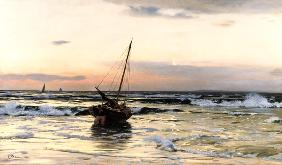 Eugen D�cker - Sundown by the sea
