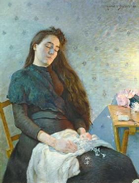 The Sleeping Flower Girl