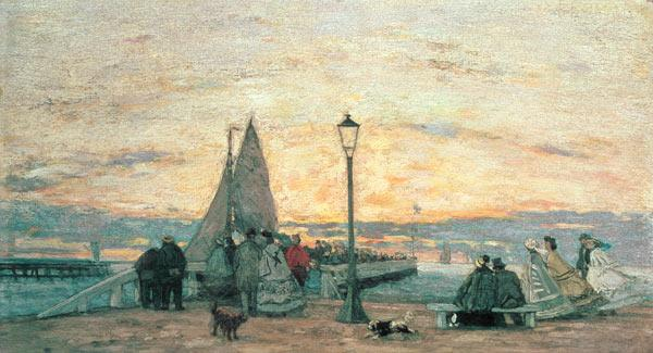 The Jetty at Trouville: Sunset