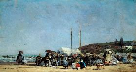 Eugene Boudin , Beach at Trouville