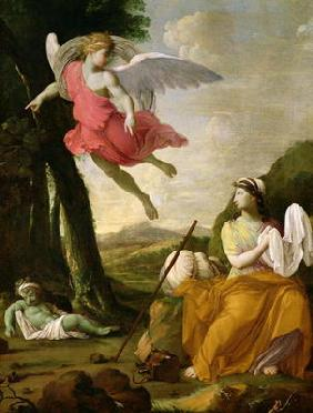 Hagar and Ishmael Rescued by the Angel, c.1648 (oil on canvas)