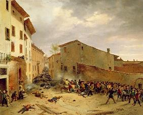 The Battle of 31st March 1849 in the Via delle Consolazioni in Brescia