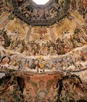The Last Judgement, detail from the cupola of the Duomo