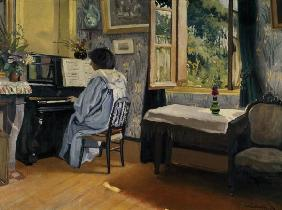 F.Vallotton / Woman at the Piano