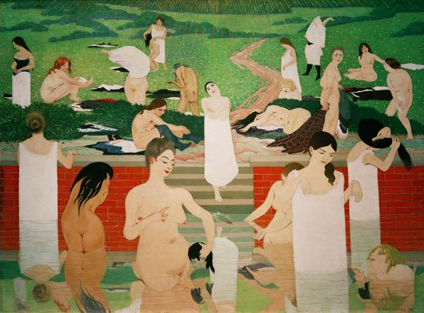 F.Vallotton, Das Bad am Sommerabend