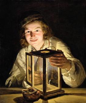 The Young Stableboy with a Stable Lamp