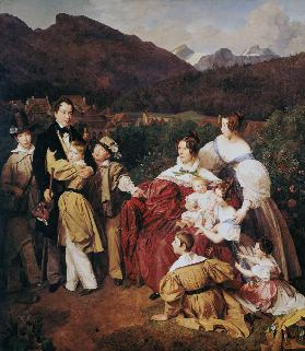 DrJosef Eltz and his family in bath Ischl.