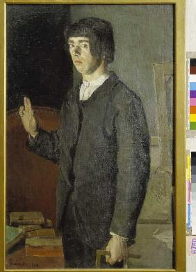 The studying (self-portrait)