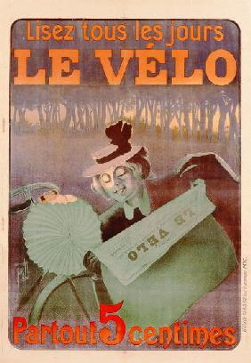 Advertisement for Le Velo, printed by Affiches Camis, Paris
