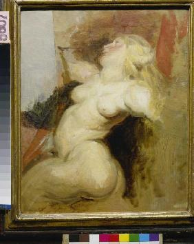 Copy of a naked woman figure from the Medici cycle
