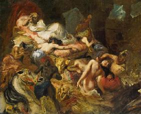 Delacroix, Ferdinand Victor Eug�ne : Study for The Death of Sar...