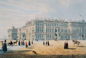 The Winter Palace as seen from Palace Passage, St. Petersburg, c.1840