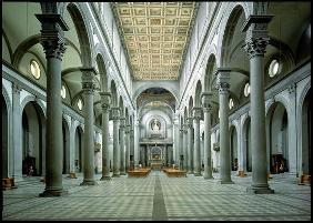 Brunelleschi, Filippo : View of the Nave, 1425-46 ...