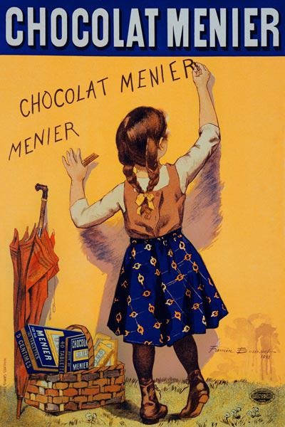 Reproduction of a poster advertising 'Menier' chocolate, 1893 (colour litho)