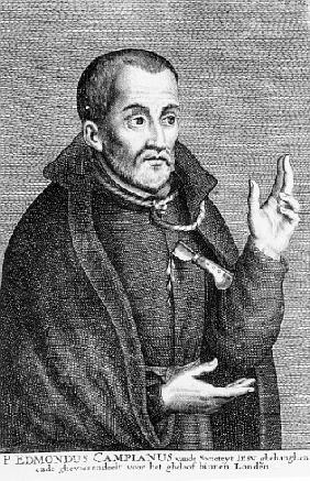 Saint Edmund Campion, from a print made Jacques Neeffs
