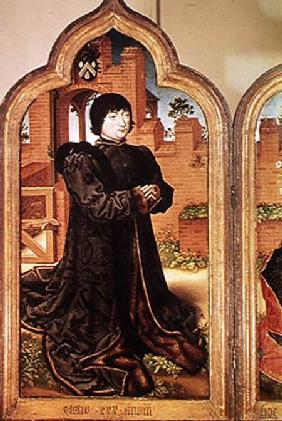 Triptych of Jean de Witte, left hand panel depicting Jean de Witte