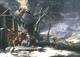 Winter Landscape with Nativity