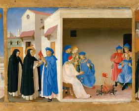 The Dispute of Saint Dominic and the Miracle of the Book (Predella of the retable The Coronation of