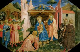 The adoration of the kings Predella of the altar p