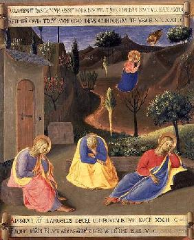 The Agony in the Garden, detail from panel three of the Silver Treasury of Santissima Annunziata