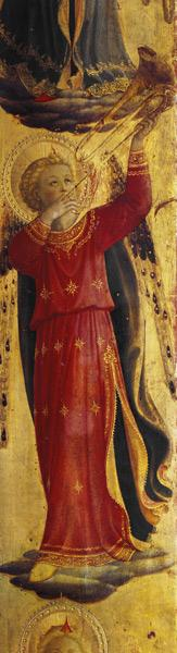 Angel Playing a Trumpet, detail from the Linaiuoli Triptych