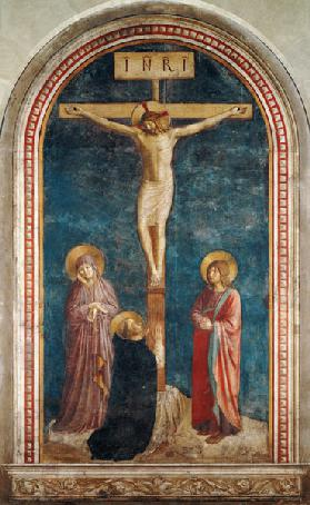 The Crucifixion with Saint Dominic