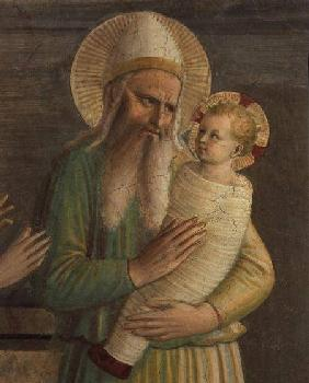 Simeon with the Christ Child, detail from The Presentation in the Temple